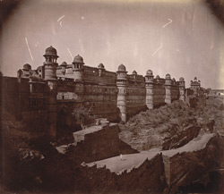 Exterior view of the Man Mandir Palace from the south, Gwalior 10031431